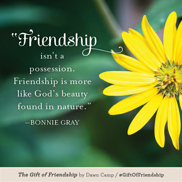 Bonnie Gray The Gift of Friendship #GiftofFriendship