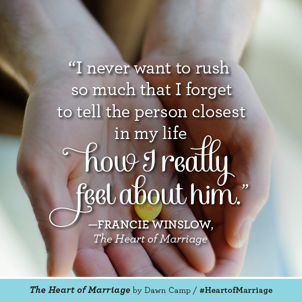 Francie Winslow The Heart of Marriage #HeartofMarriage