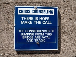 Suicide prevention notice