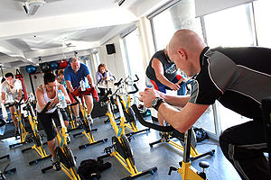 Cycle Class at a Gym Category:Gyms_and_Health_...
