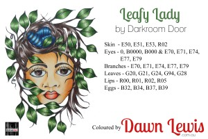 Leafy Lady copic colour printable