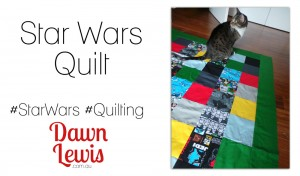 Video opening image star wars quilt