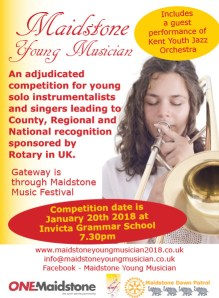 Flyer for the 2018 Maidstone Young Musician competition
