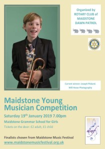 Flyer for the 2019 Maidstone Young Musician competition