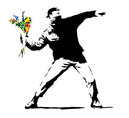 BANKSY-Riot Flowers