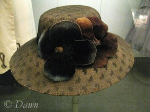 Hat from the museum display