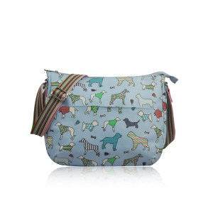 Dog Print Multi-Purpose Cross Body Bag Light Blue
