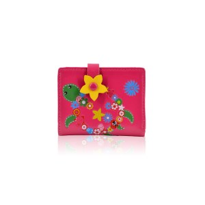 Flower Turtle Small-Purse Fuchsia