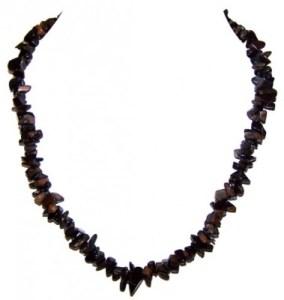 Blue Tiger's Eye Chip Necklace 1