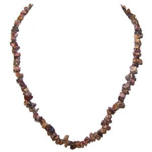 Leopardskin Jasper Chip Necklace