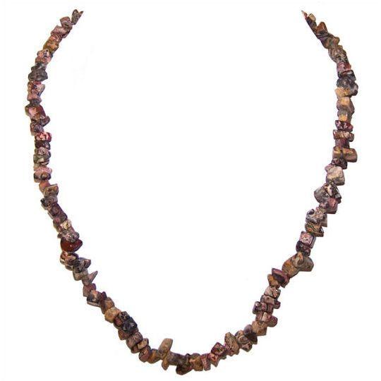 Leopardskin Jasper Chip Necklace