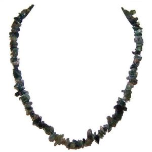 Moss Agate Chip Necklace