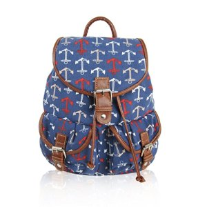 Canvas ANCHOR Print -Design Retro Classic Backpack