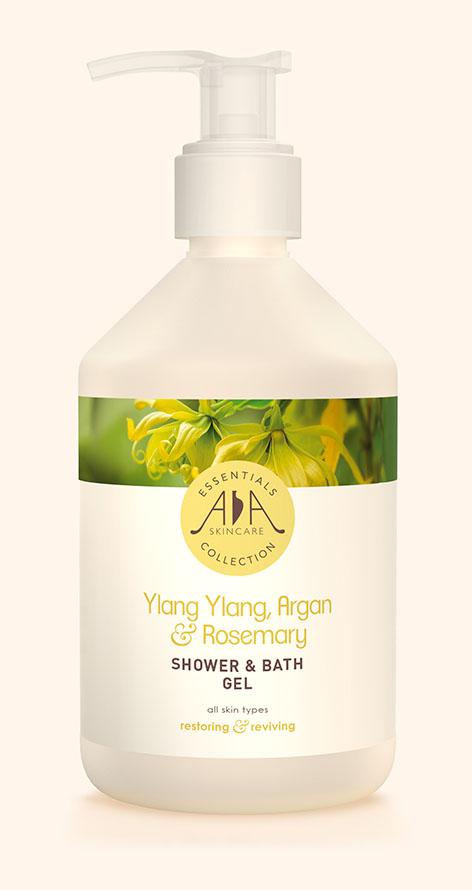 AA Skincare – Ylang Ylang, Argan & Rosemary Shower & Bath Gel 500ml