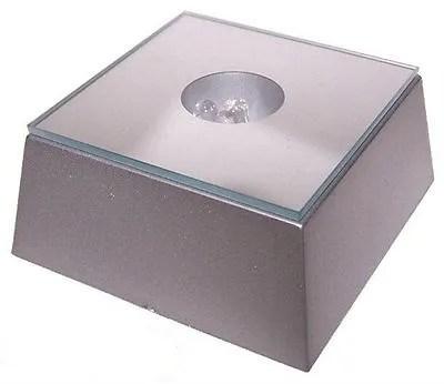 LED Light Stand - Coloured LED Lights For Crystal Laser Block- 6x6cm Glass Plate