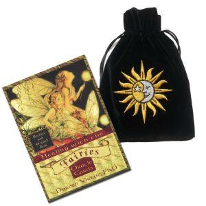 Healing with the Fairies Deck Deck & Sun/Moon Velvet Bag