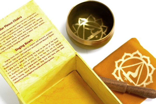 Chakra Singing Bowl Gift Set - Solar Plexus