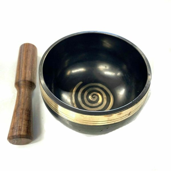 Tibetan Singing Bowl With Baton And Cushion Gift Boxed