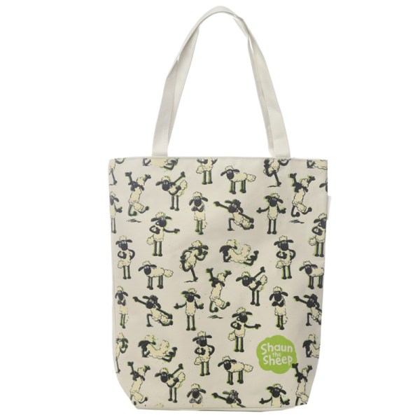 Handy Cotton Zip Up Shopping Bag - Shaun the Sheep