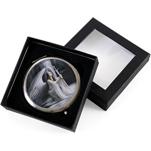 The Blessing Gothic Angel Compact Mirror by Anne Stokes