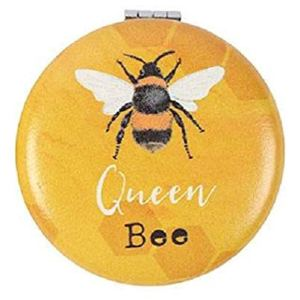 Compact Mirror BEE - Make-up Pocket Mirror - You Are Bee-utiful/Queen Bee (You Are Bee-utiful)