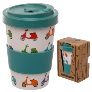 Bamboo Eco Friendly Scooter Design Screw Top Travel Mug