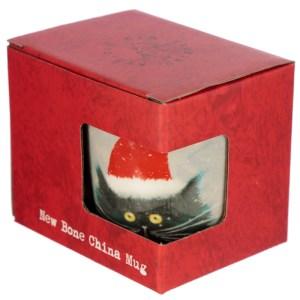 Christmas Porcelain Mug – Kim Haskins Christmas Cat