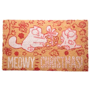 Coir Door Mat - Meowy Christmas Simon's Cat
