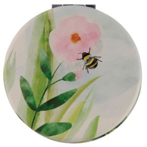 New Collectable Botanical Bee Design Compact Mirror