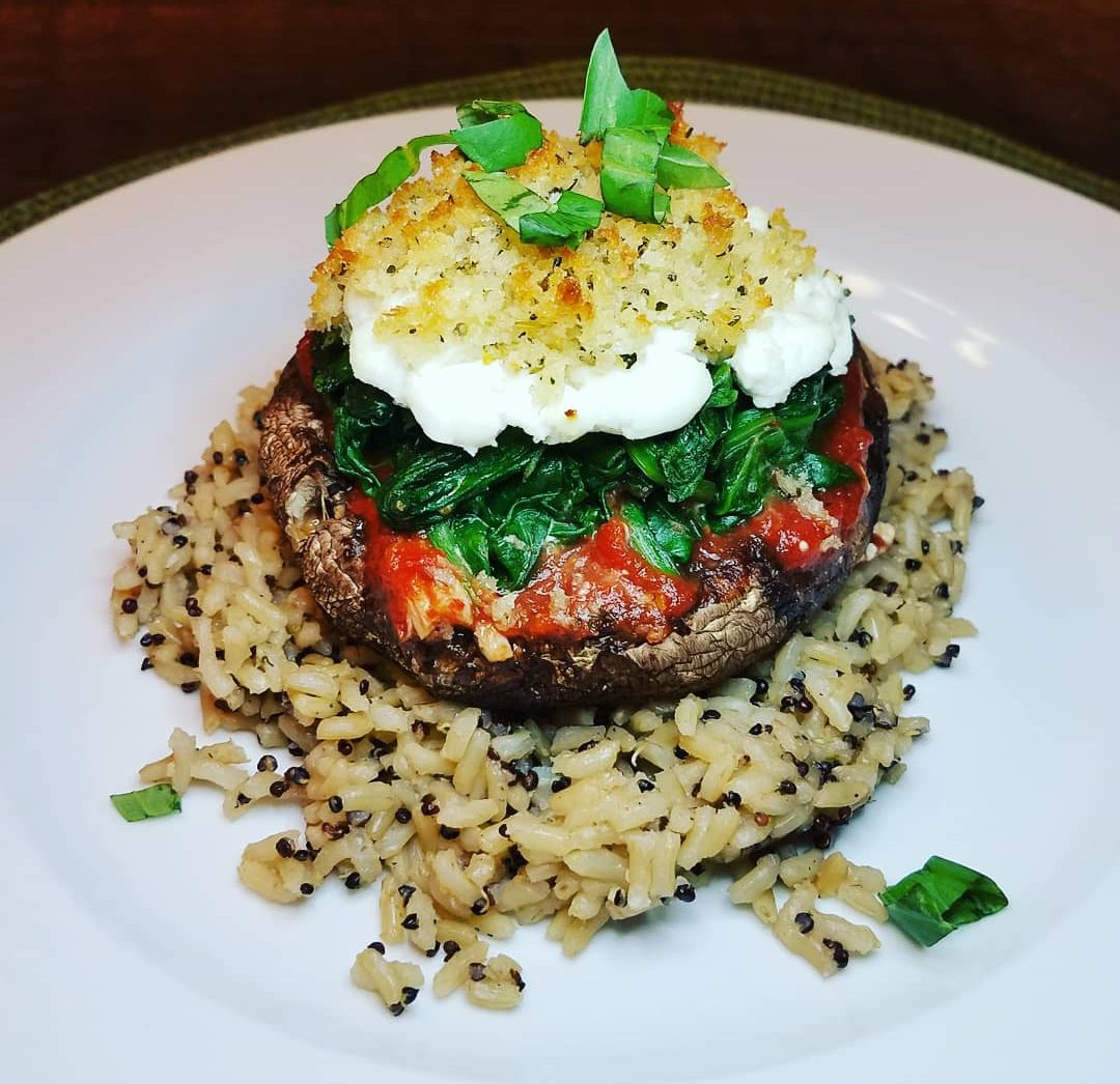Baked Stuffed Portobellos: Meatless Meal