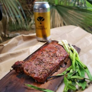 Cedar Plank Smoked Steak