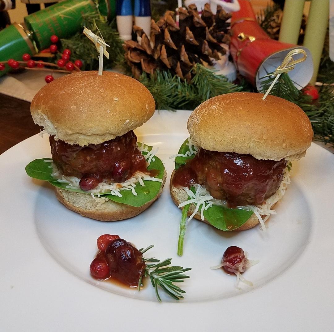 Holiday Turkey Cranberry Sliders