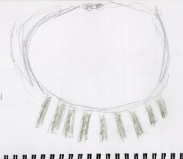Tribal Necklace drawing