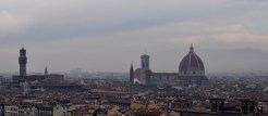 View from the Piazzale Michelangelo on a misty morning