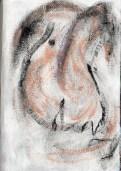 Nude - Pastel on Handmade paper