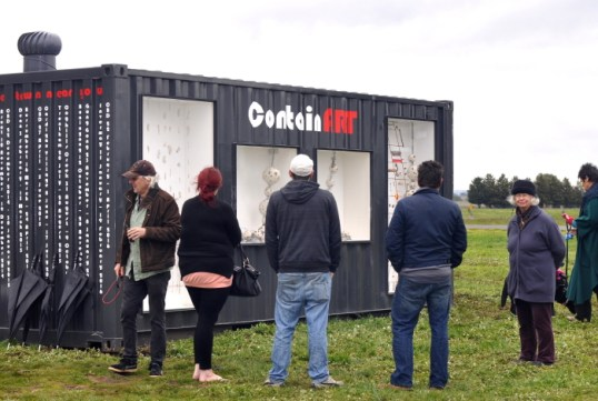 Thanks to those who rugged up and braved the elements for the opening