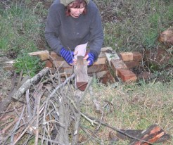 Adding a wood base to the pit