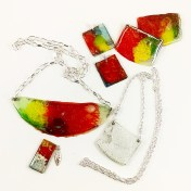Dawn Whitehand recycled CD jewellery
