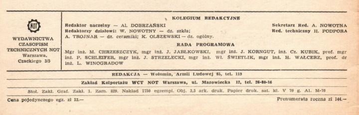 stopka redakcyjna SiC 1966 1