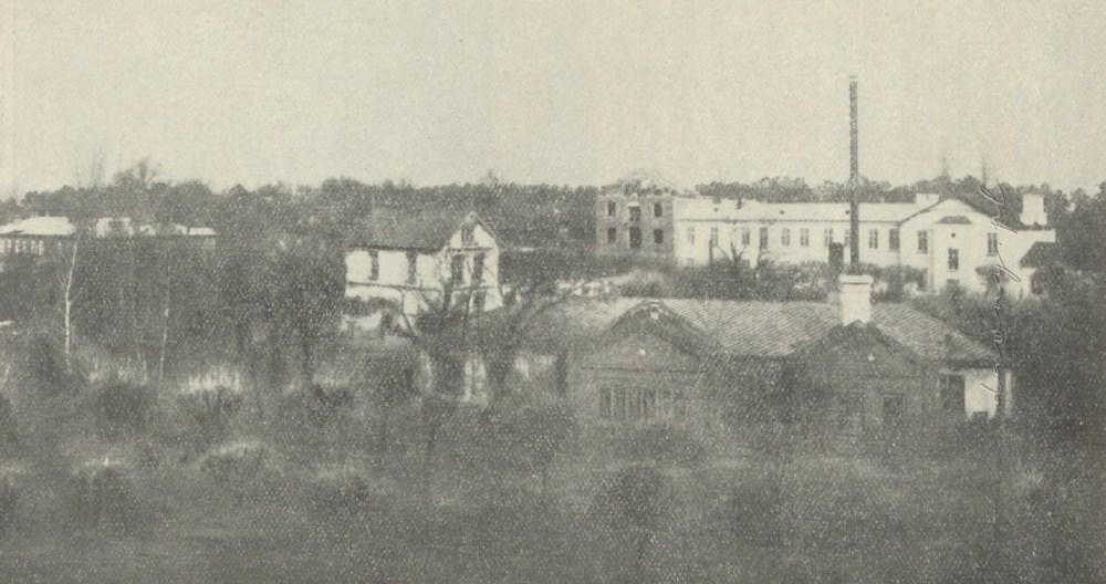 Ogólny widok zakładu w Drewnicy w roku 1906