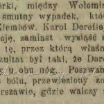 Dorofiejew wypadek Goniec Wieczorny. 1909, nr 146