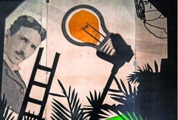 Nikola Tesla spielt im Theater in den Technischen Sammlungen eine Rolle. Foto: Dorit Günter