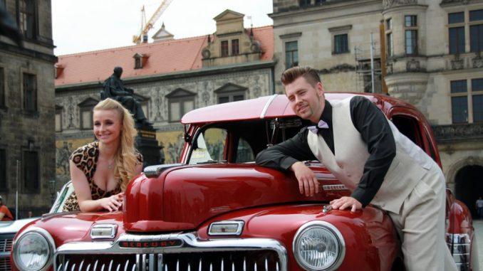 Der rote Ford Mercury von 1948 gehört zu den tausend US-Cars, die vom 10. bis 12. Juli mit rund 15 000 Besuchern den American Spirit in der Flutrinne zelebrieren