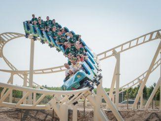 Im Freizeitpark in Leipzig sorgt eine neue Achterbahn für ganz viel Spaß bei der ganzen Familie. Foto: PR