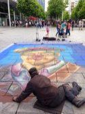 Der 59 jährige Künstler aus Walldürn reist in ganz Europa umher.