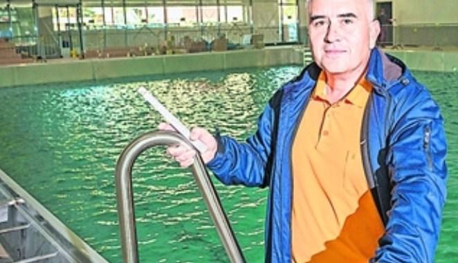 Die neue Schwimmhalle in Bühlau wird an diesem Wochenende eröffnet. Foto: Norbert Neumann
