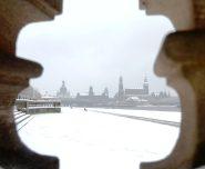 Dresden im Schnee.
