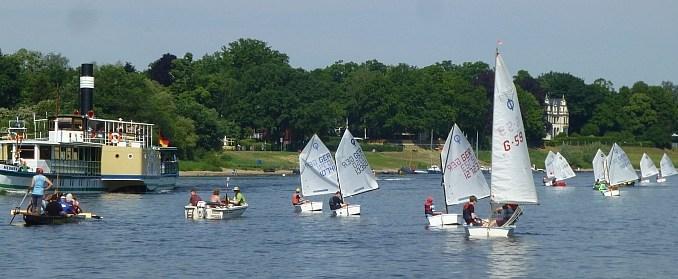 Die Segelsportler in Dresden sind auf der Suche nach Nachwuchs. Foto:PR