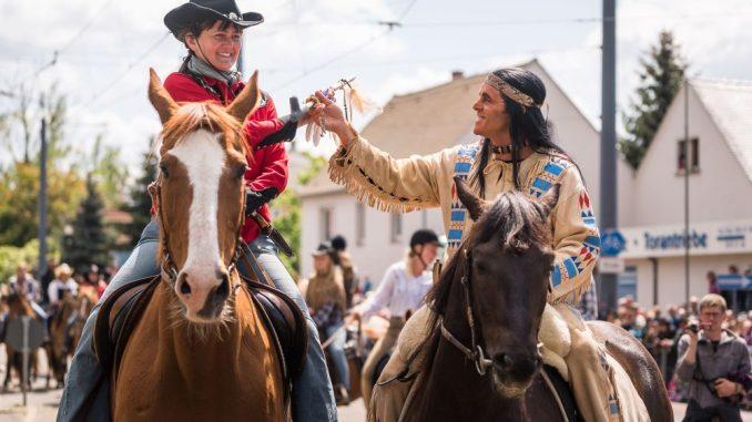 Die Sternreiterparade am Sonntag ist der jährliche Höhepunkt. . Foto: André Wirsig