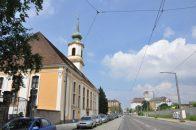 Pöppelmanns Matthäuskirche führt die Freidrichstraße zu einem markanten Blickpunkt: Die Hafenmühle ist mit 60 Metern Dresdens höchstes Industriedenkmal. Foto: Una Giesecke
